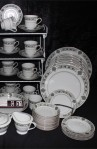 Noritake Buckingham Pattern Fine Bone China Dinnerware Serving Bowls , Creamer , Sugar and more