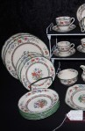 Copeland Spode Chinese Rose Pattern Imperal Ware China with Dinner and Salad Plates and Platter