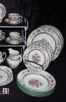 Copeland Spode Chinese Rose Pattern Imperal Ware China Dinnerware with Cereal and Soup Bowls , Cups and Saucers