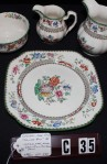 Copeland Spode Chinese Rose Pattern Imperal Ware China Dinnerware with Sugar , Creamer and Pitcher