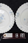Haviland Limoge Bergere Pattern Fine Bone China  with Set of Two Dinner Plates