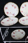 Aynsley 84E6 Pattern Fine Bone China Saucers in a Floral Pattern