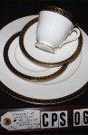 Waterford Fine Bone China Ashworth Pattern WFCASH Four Piece Place Setting , Close of the Pattern