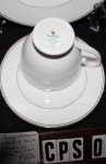 Waterford Fine Bone China Platinum Kilbarry Pattern WFCKIP , 5 Pieces . MFG Back Stamp