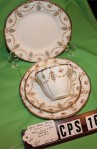 Royal Albert Crown Fine Bone China Pattern 4294 Antique Tea Set , 4 Pieces , Cup , Saucer and 2 Dessert Plates