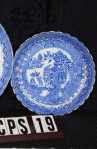 Royal Stafford Fine Bone China Blue Willow Pattern RSTBLW1 Antique Trio Tea Set , Close Up of Saucer Pattern