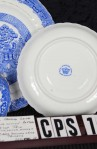 Royal Stafford Fine Bone China Blue Willow Pattern RSTBLW1 Antique Trio Tea Set , MFG Back Stamp