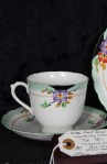 Plant Tuscan Fine China Art Deco Style Antique Tea Set Trio , 3-Pieces , Cup , Saucer and Tea Plate