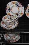 Royal Albert Crown Fine Bone China Bognor Pattern 7873 , Tea Set Trio , Consists of Cup , Saucer and Tea Plate