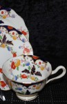 Royal Albert Crown Fine Bone China Bognor Pattern 7873 , Tea Set Trio , Close up of Cup Pattern