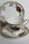 Paragon Fine Bone China Pattern 657 , Vintage Tea Set Trio , Cup, Saucer and Tea Plate