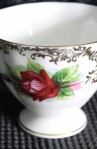 Paragon Fine Bone China Pattern 657 . Vintage Tea Set Trio , Close up of Cup Rose Pattern