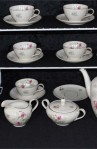 Bavaria Johann Seltmann VohenstrauB 1816 109 F Pattern Fine Bone China Tea Set , Sugar and Creamer
