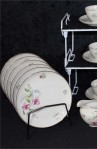 Bavaria Johann Seltmann VohenstrauB 1816 109 F Pattern Fine Bone China Tea Set , Dessert or Tea Plates