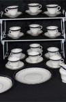 Aynsley AYN191 Pattern Fine Bone China Tea Set , A 40 Piece Set , Service for Twelve