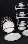 Aynsley AYN191 Pattern Fine Bone China Tea Set , Cups , Saucers, Dessert Plates