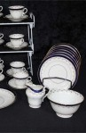 Aynsley AYN191 Pattern Fine Bone China Tea Set , Creamer , Sugar and Two Platters