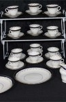 Duchess E BL 2237 Pattern Fine Bone China Antique Tea Set , A 40 Piece Set , Service for Twelve