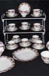 Balmoral Pattern 7867 Pattern Fine Bone China Antique Tea Set , 34 Pieces Set , Service for Ten