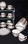 Balmoral Pattern 7867 Pattern Fine Bone China Antique Tea Set , Cups , Saucers , Tea Plates