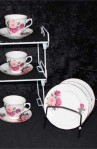 Gainesborough Peach and Red Rose H 37 7 Pattern Fine Bone China Vintage Tea Set , Dessert or Tea Plates