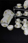 Shelly Primrose 2528 Pattern Fine Bone China Vintage Tea Set , Cups, Saucers , Two Platters