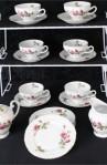 Fine China of Japan Royal Rose Pattern China Vintage Tea Set , A 21 Piece Set , Service for Six