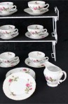 Fine China of Japan Royal Rose Pattern China Vintage Tea Set , Luncheon Plates and Creamer