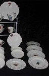 Fords Heraldic Ware Royal Crest Pattern China Antique Tea Set , Tea Plates, Cups and Saucers