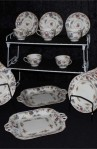 Royal Worcester Pekin Pattern Fine Bone China Antique Tea Set , A 20 Piece Partial Set
