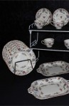 Royal Worcester Pekin Pattern Fine Bone China Antique Tea Set , Cups , Saucers and Luncheon Plates