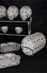 Royal Worcester Pekin Pattern Fine Bone China Antique Tea Set , Dessert or Tea Plates and Two Cookie Platters