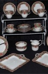 Sutherland SUT66 Pattern Fine Bone China Antique Tea Set , A 33 Piece Partial Set
