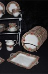 Sutherland SUT66 Pattern Fine Bone China Antique Tea Set , Creamer and Two Platters,