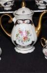Bayreuth Bavaria Germany Gloria Porcelain China Vintage Tea Set by Handwork , Tea Pot with Lid , Creamer and Sugar