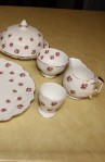 Aynsley Fine Bone China Rosedale Pattern 13698 Crocus Style Vintage Partial Tea Set , Creamer, Sugar Bowl , Egg Cup and Bread Plate