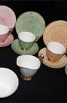 Royal Albert Gossamer Pattern Multi Color Fine Bone China Vintage Tea Set with Creamer and Sugar Bowl