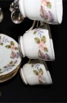 John Aynsley and Sons April Rose 2554 Pattern Fine Bone China Vintage Tea Set , Cups , Saucers and Tea Spoons