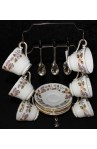 John Aynsley and Sons April Rose 2554 Pattern Fine Bone China Vintage Tea Set on Hanging Rack