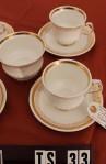 Elizabethan Clifton Pattern Fine Bone China Vintage Tea Set , 4 Cups , 4 Saucers  and Sugar Bowl