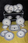 Duchess Pattern 1523 Fine Bone China Antique Tea Set, A 22 Piece Set , Full Service for Six