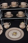 Johnson Brother Staffordshire Old Granite Fruit Sampler Older Pattern China Tea Set of 22 Pieces