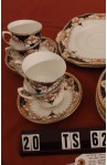 Wetley China Longton England Milan 9386 Pattern Imari Style Vintage Tea Set . Cups , Saucers and Tea Plates