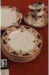 Wetley China Longton England Milan 9386 Pattern Imari Style Vintage Tea Set , including 2 Platters