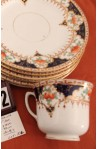 Wetley China Longton England Milan 9386 Pattern Imari Style Vintage Tea Set , Cup and Tea Plates  , Close Up of Pattern