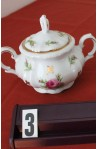 Bareuther Bavaria China Starlight BTH253 Pattern Bone China Vintage , 3 Piece Tea Set , Sugar Bowl with Lid